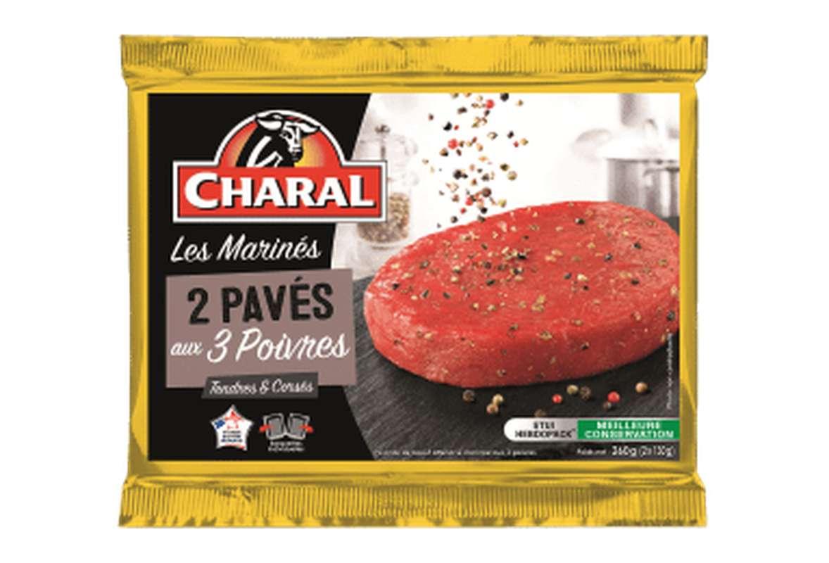 Pavés de boeuf marinés aux 3 Poivres, Charal (2 x 130 g)