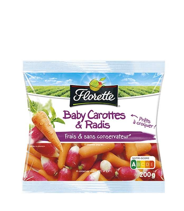 Baby carottes et radis, Florette (200 g)