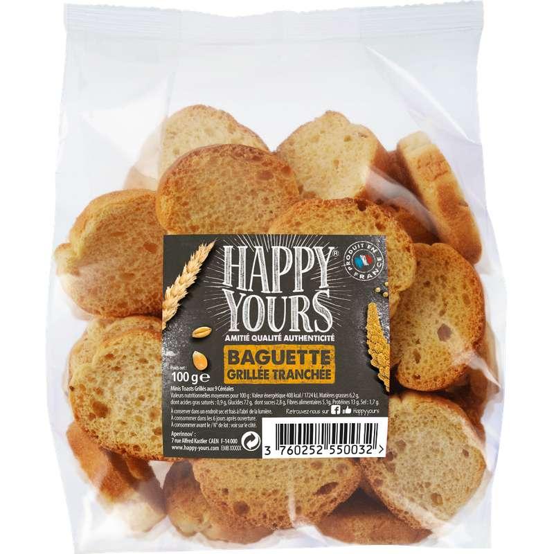 Baguette grillée tranchée, Happy Yours (100 g)
