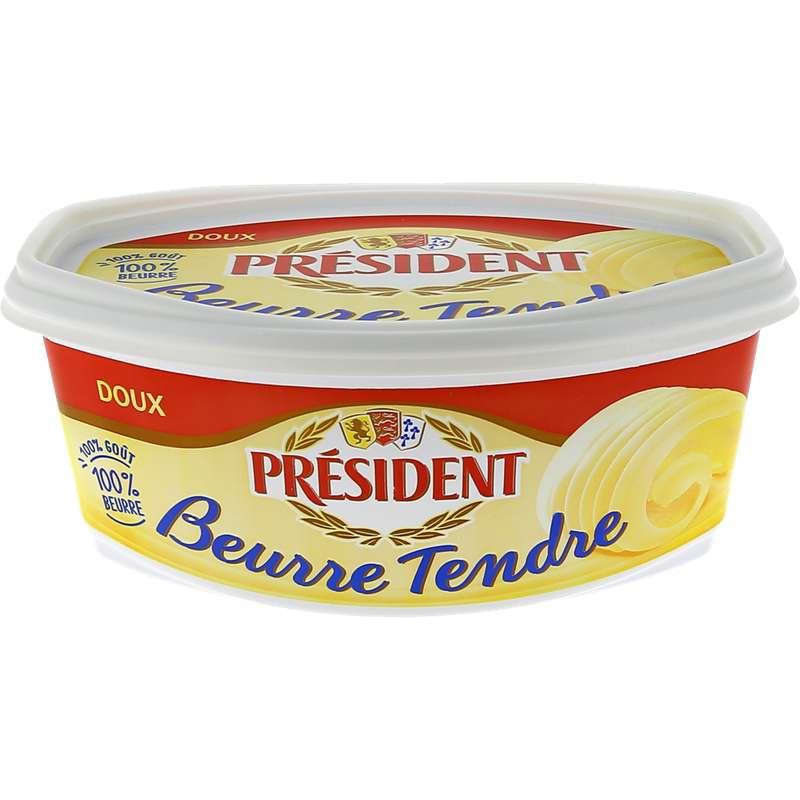 Beurre doux tendre, Président (500 g)