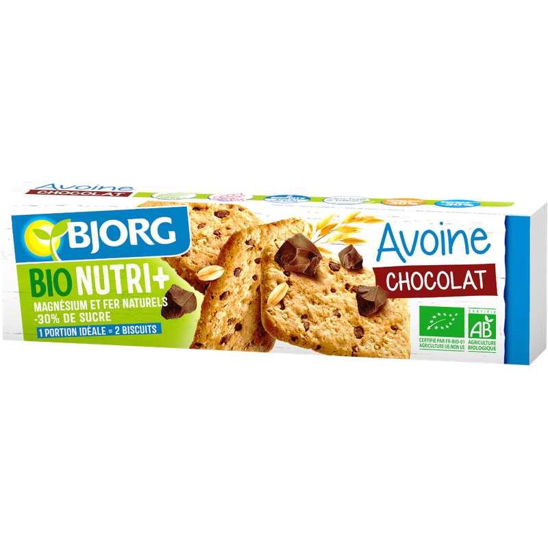 Biscuit avoine pépites de chocolat BIO, Bjorg (130 g)