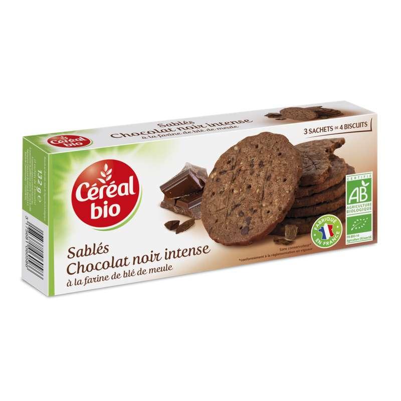 Biscuit chocolat noir intense BIO, Céréal BIO (132 g)