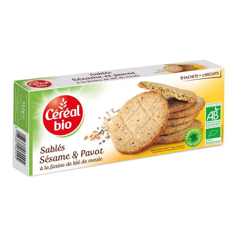 Biscuit pavot sésame BIO, Céréal bio (132 g)