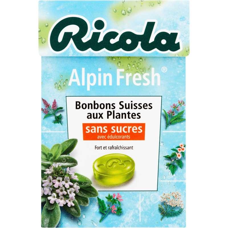Bonbons Alpin Fresh sans sucres, Ricola (50 g)