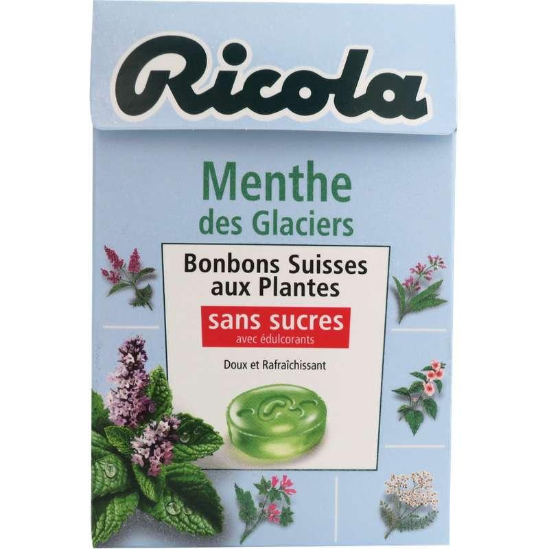 Bonbons Menthe des glaciers sans sucre, Ricola (50 g)
