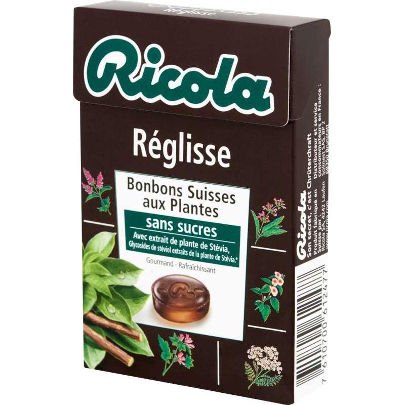 Bonbons Réglisse sans sucre, Ricola (50 g)