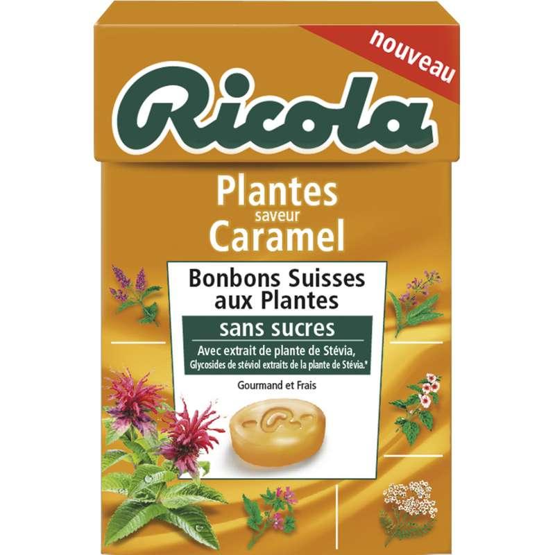 Bonbons aux plantes saveur caramel sans sucre, Ricola (50 g)