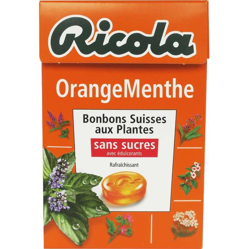 Bonbons orange-menthe sans sucre, Ricola (50 g)