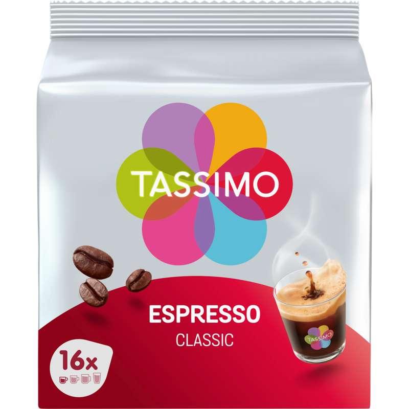 Café capsule Espresso Classique, Tassimo (x 16)