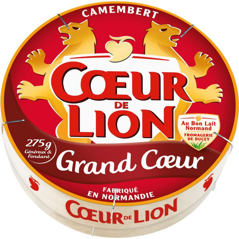 Camembert Grand Coeur, Coeur de Lion (275 g)