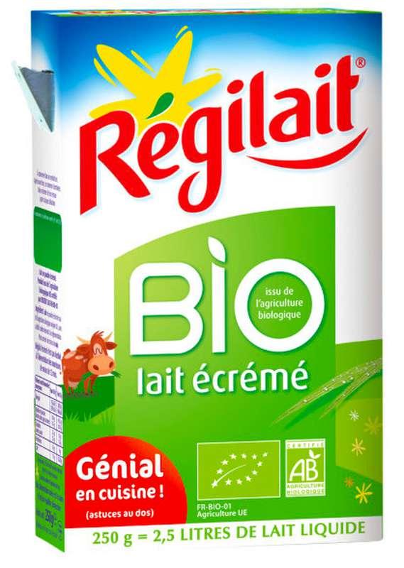 Lait écrémé en poudre BIO, Régilait (250 g)