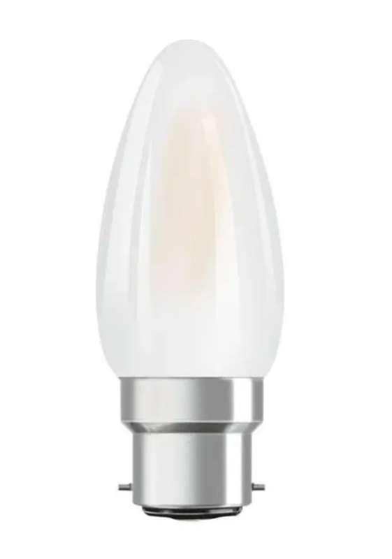 Ampoule dépolie flamme LED à filament 25W culot à baïonnette B22 - blanc chaud, Osram (x 1)