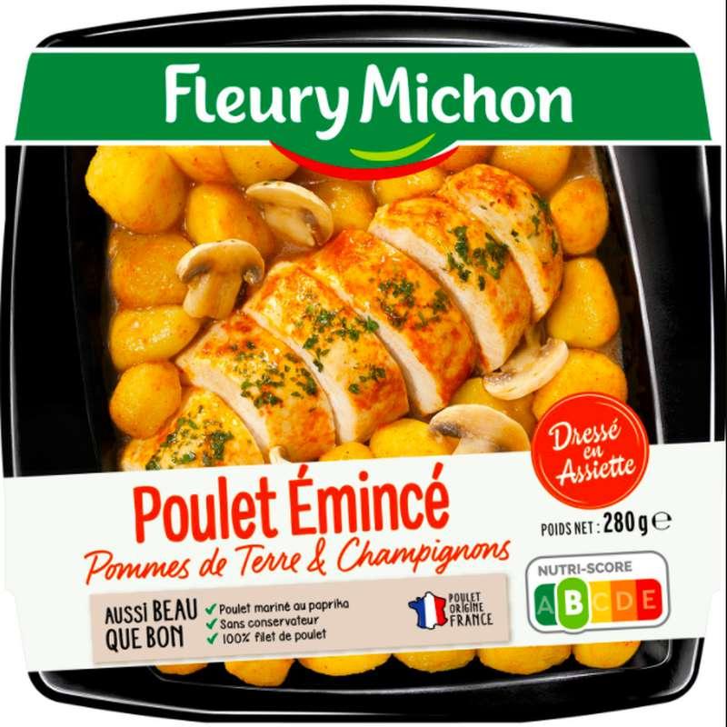 Poulet émincé, pommes de terre et champignons, Fleury Michon (280 g)
