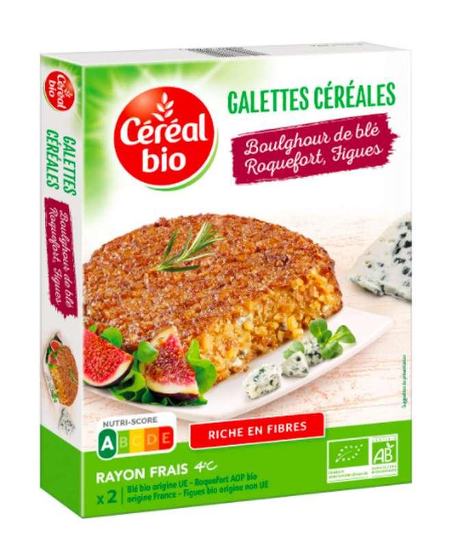 Galettes boulgour de blé, roquefort et figues BIO, Céréal Bio (200 g)