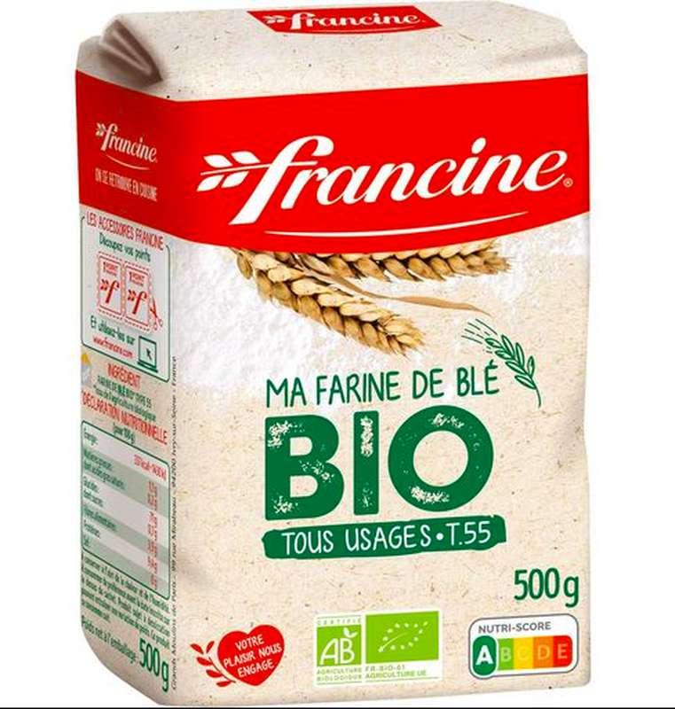 Farine de blé T55 tout usage BIO, Francine (500 g)