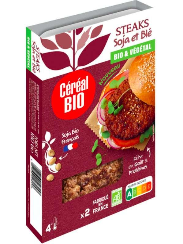 Steak Soja & Blé BIO, Céréal Bio (x 2, 160 g)