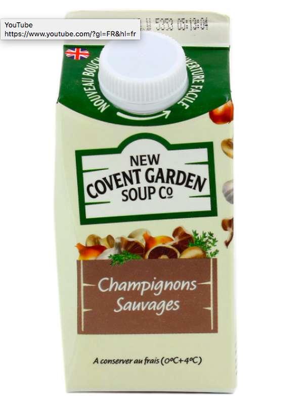 Soupe fraîche aux Champignons sauvages, New Covent Garden Soup (600 g)