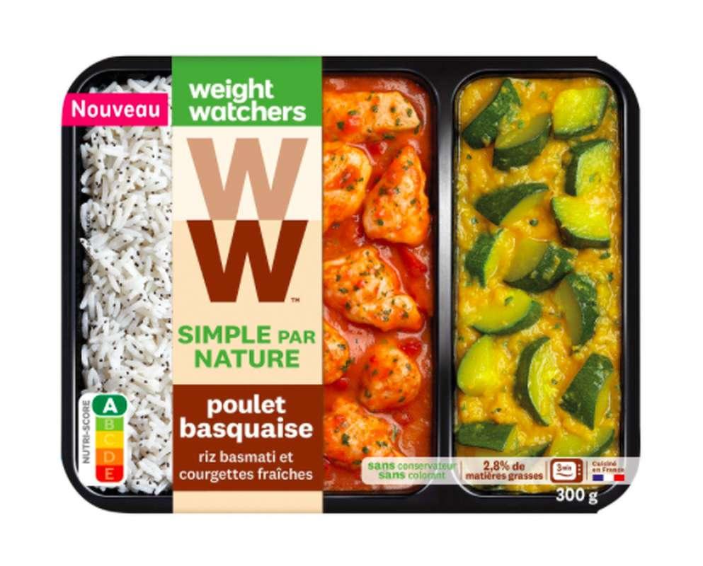 Poulet Basquaise, riz et courgettes fraîches, Weight Watchers (300 g)