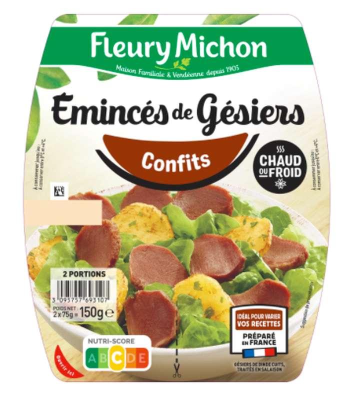 Émincés de gésiers confits, Fleury Michon (2 x 75 g)
