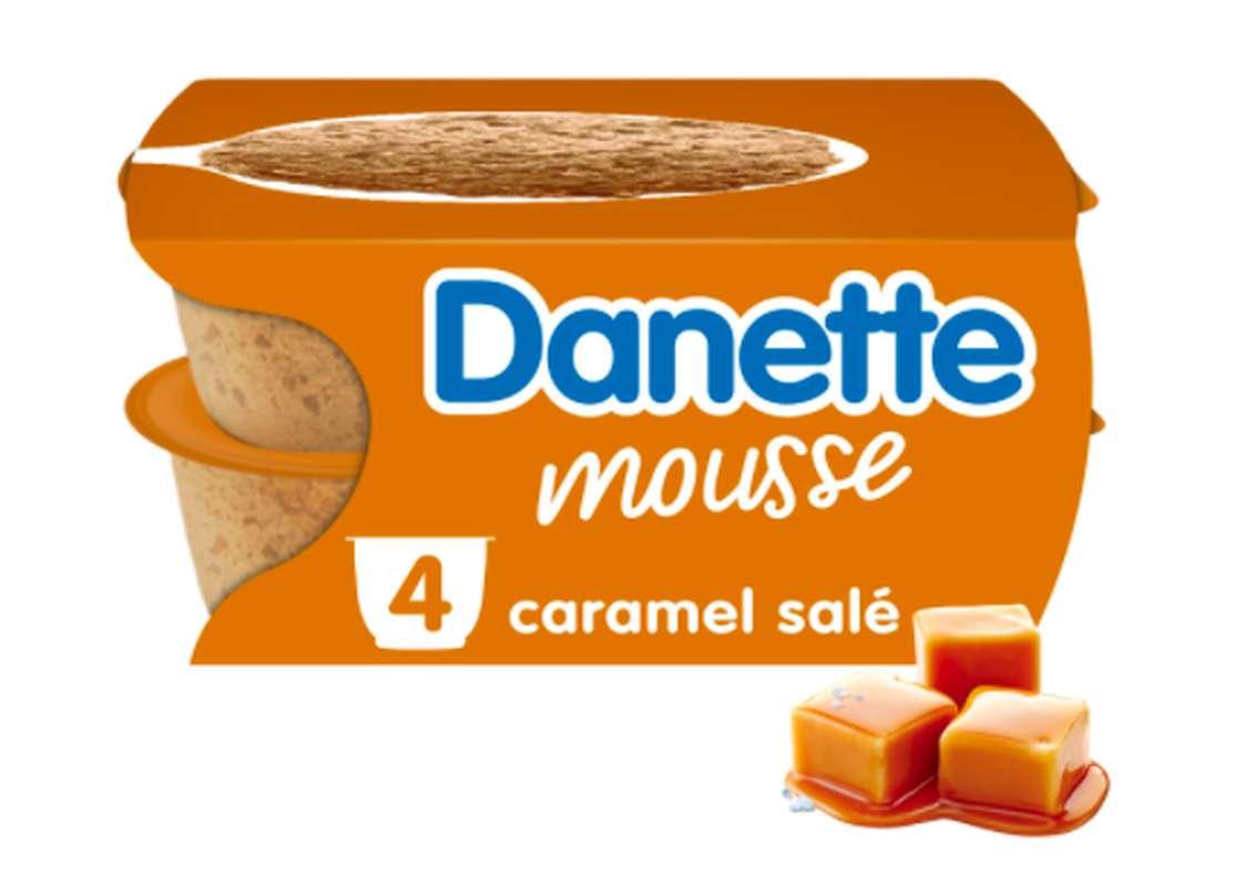 Danette Mousse Caramel au beurre salé (4 x 60 g)