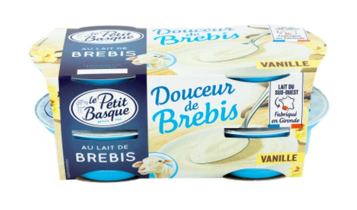 Yaourt Douceur de Brebis à la vanille, Le Petit Basque (4 x 100 g)