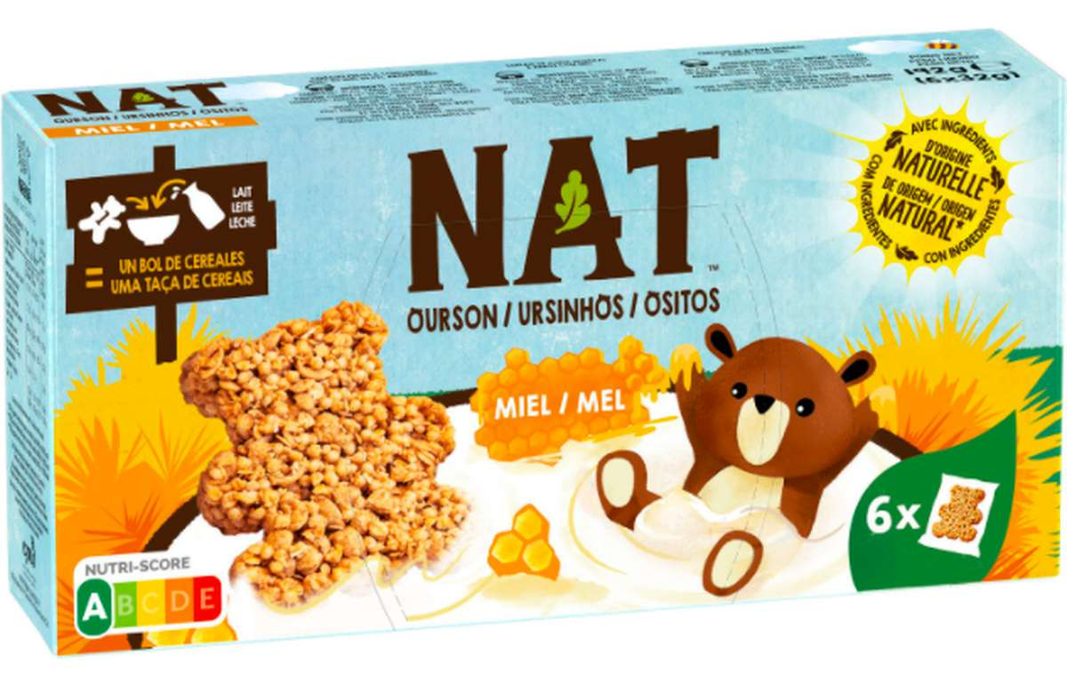 Biscuits Ourson au miel, Nat (6 x 32 g)