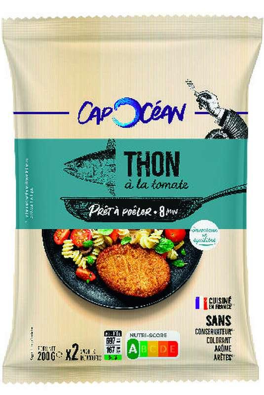 Steak de thon à la tomate à poêler, Cap Océan (x 2, 200 g)