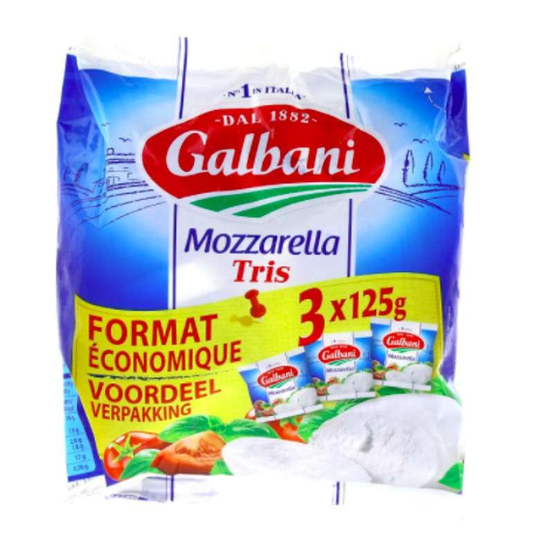 Mozzarella, Galbani (3 x 125 g)