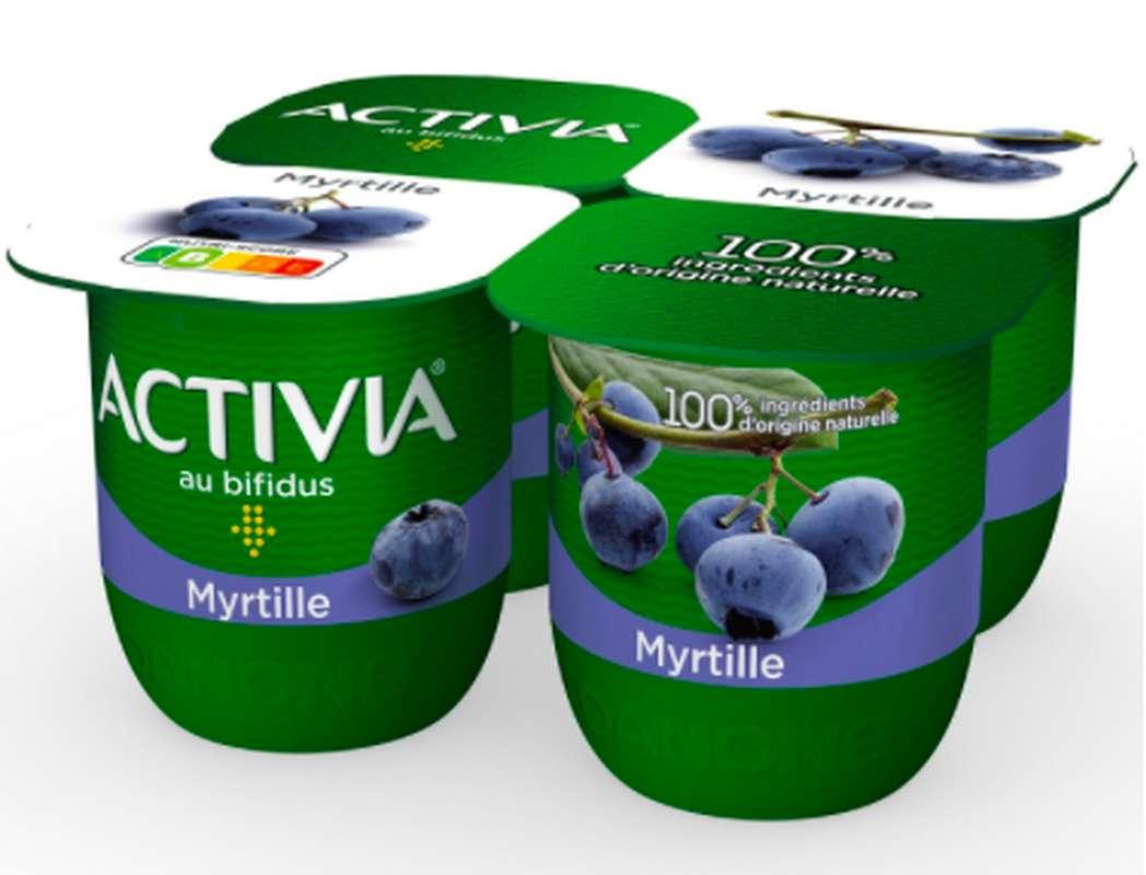 Yaourt Activia saveur Myrtille, Danone (4 x 125 g)