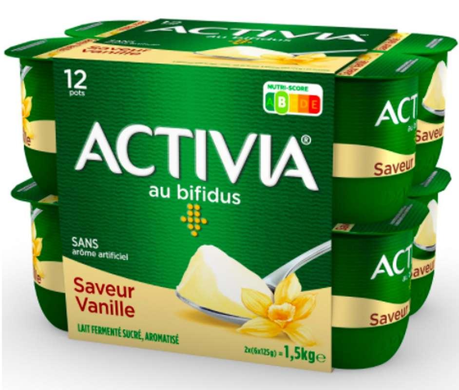Yaourt Activia saveur Vanille, Danone (12 x 125 g)