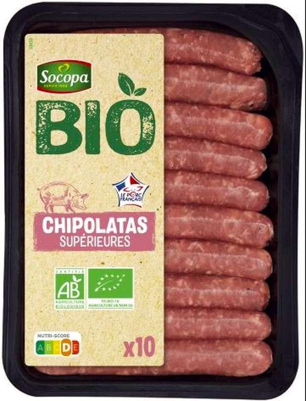 Chipolatas fines BIO, Socopa (x 10, 230 g)