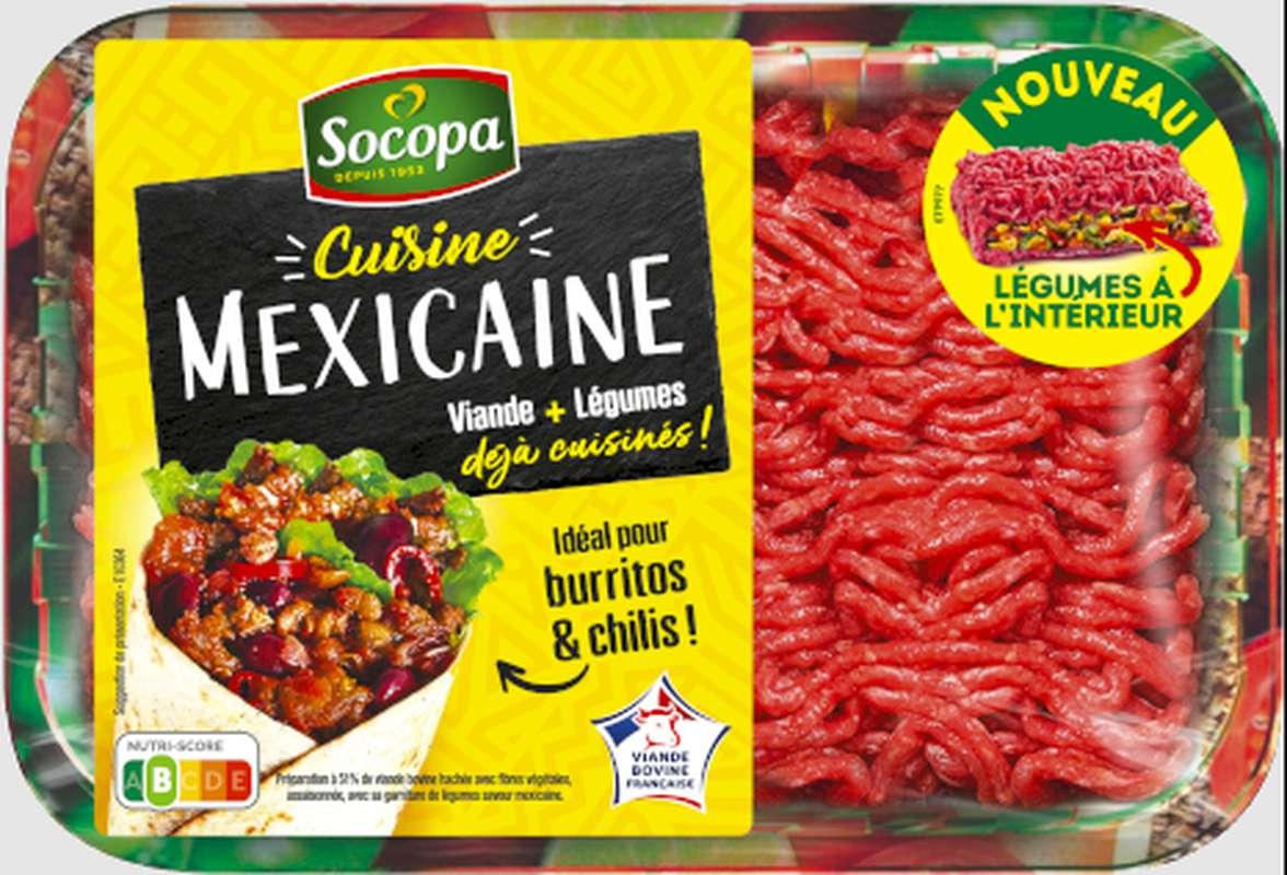 Haché de boeuf avec légumes spécial cuisine Mexicaine, Socopa (350 g)