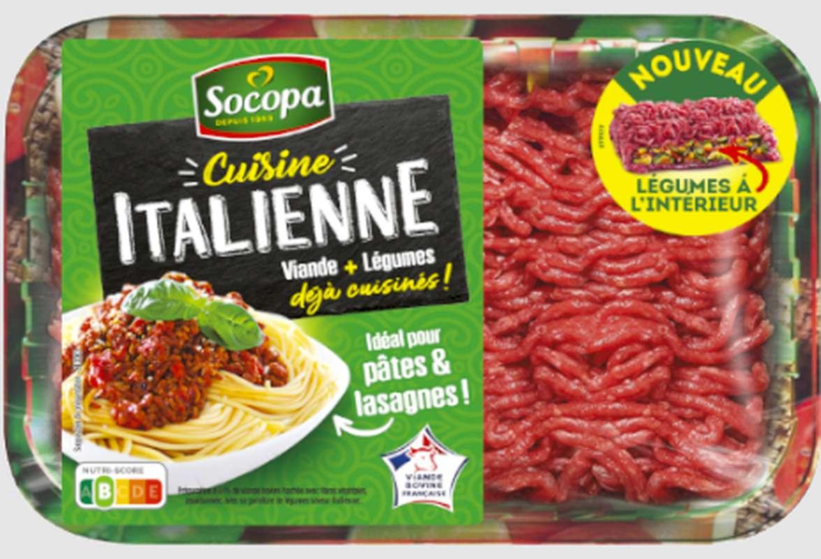 Haché de boeuf avec légumes spécial cuisine Italienne, Socopa (350 g)