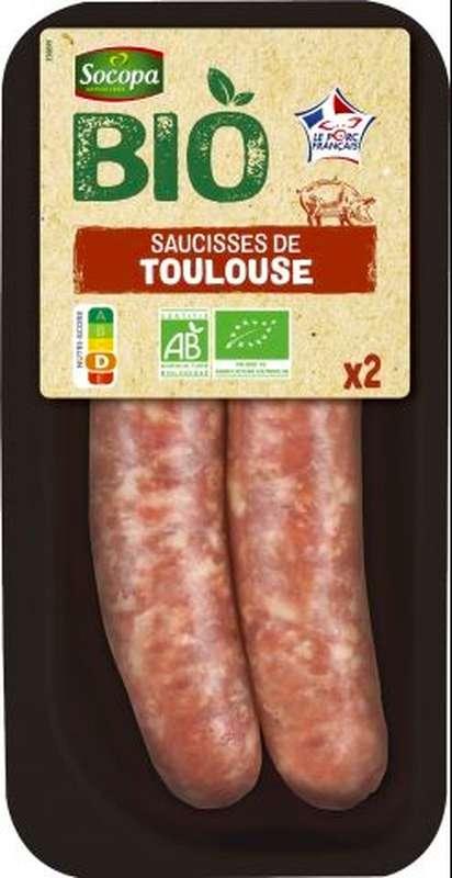 Saucisse de Toulouse BIO, Socopa (x 2, 200 g)