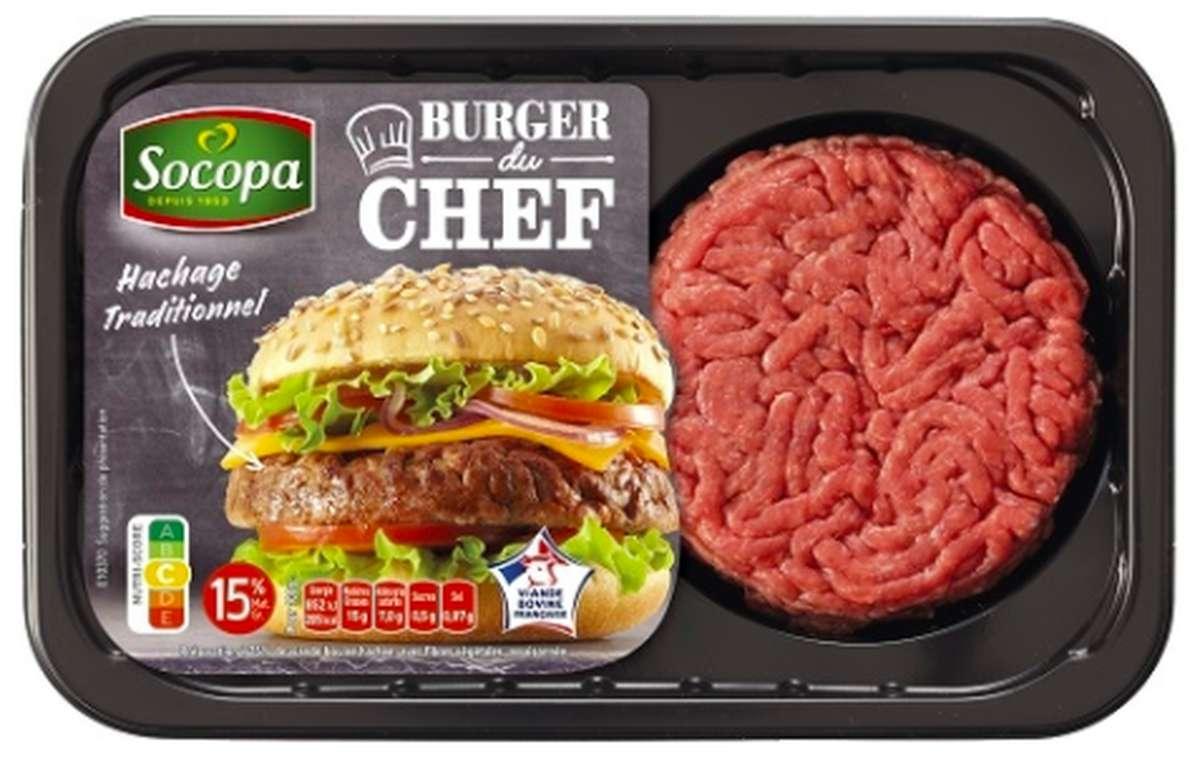 Steak haché Burger du Chef 15% MG, Socopa (2 x 125 g)