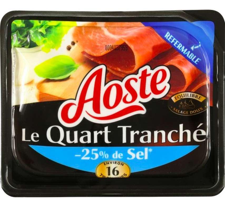 Jambon cru Le Quart tranché -25% de sel, Aoste (200 g)