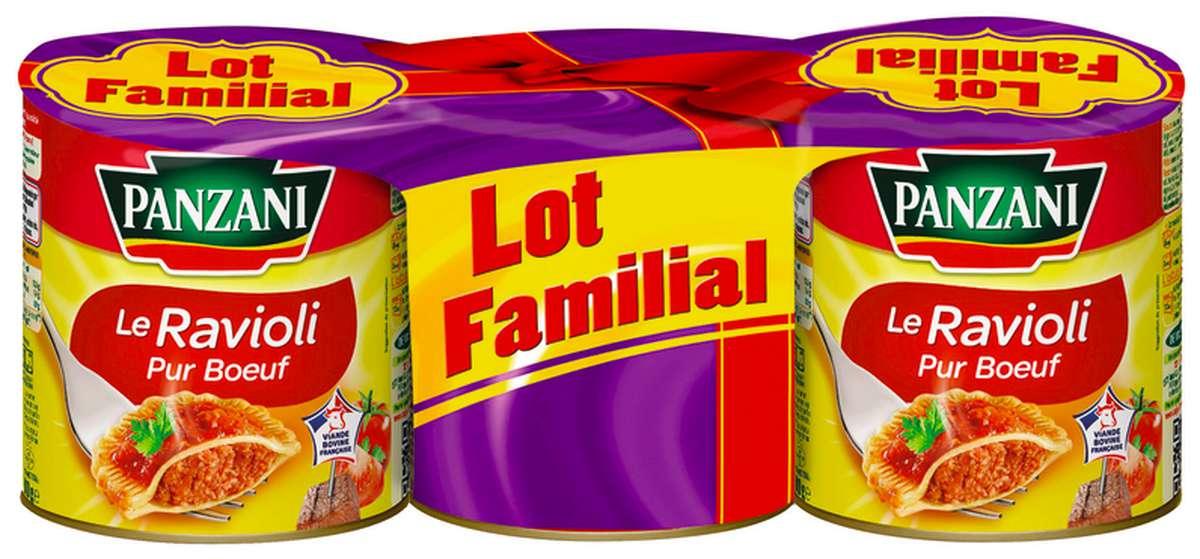Ravioli Pur Boeuf, Panzani LOT FAMILIAL (3 x 400 g)