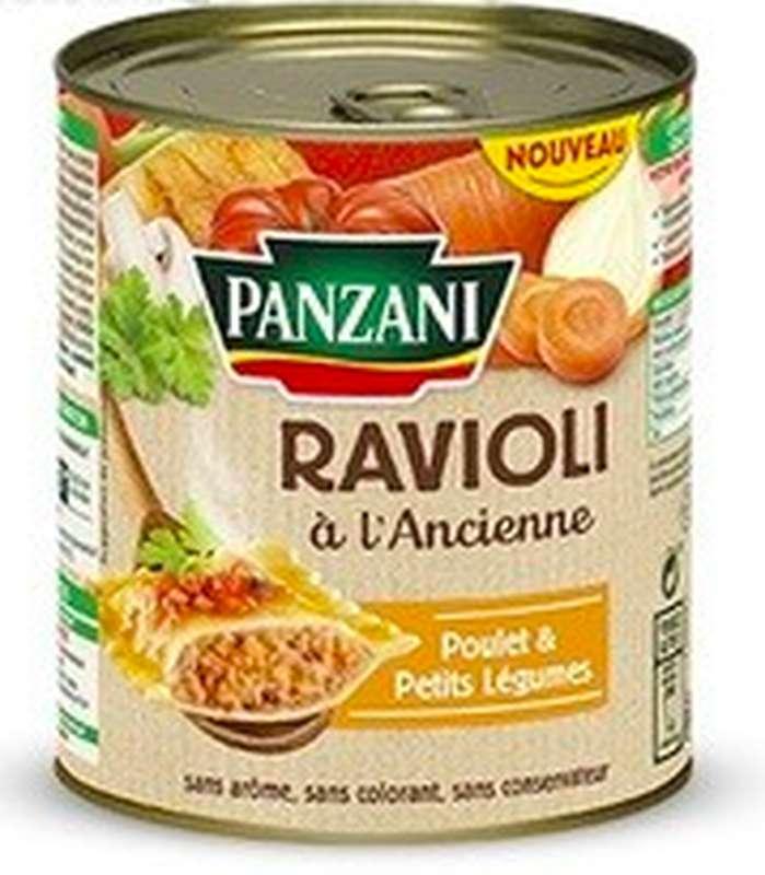 Ravioli à l'ancienne au poulet et petits légumes, Panzani (400 g)