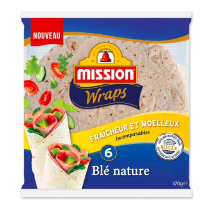 Wraps de blé nature, Mission (x 6, 370 g)