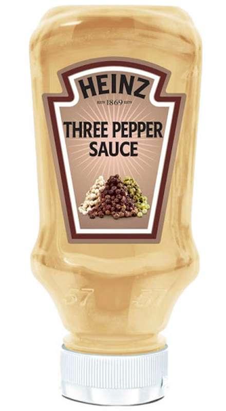 Sauce aux 3 Poivres flacon souple top down, Heinz (220 ml)