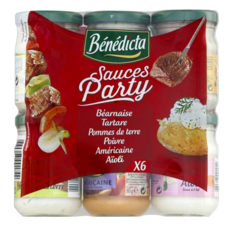 Assortiment Sauce Party, Benedicta (x 6, 500 g)