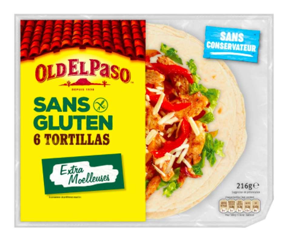 Tortilla de blé sans gluten, Old El Paso (x 6, 216 g)