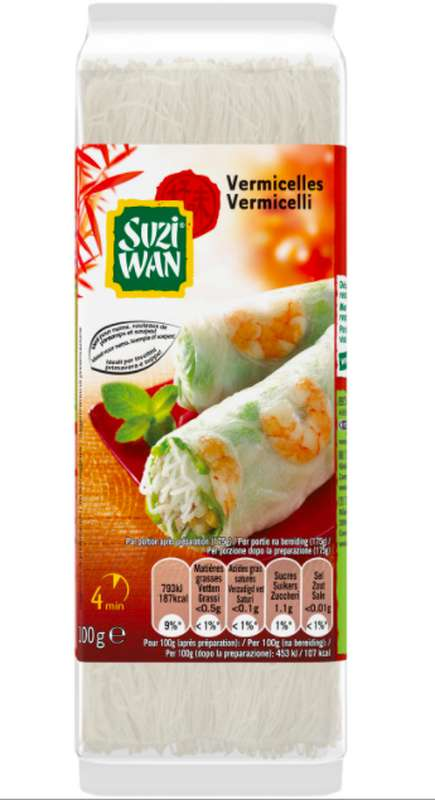 Vermicelles de soja Mungo, Suzi Wan (100 g)