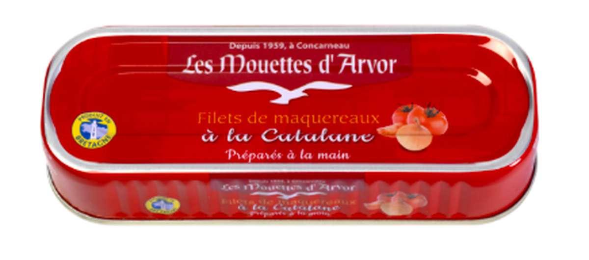 Filets de maquereaux à la Catalane, Les Mouettes d'Arvor (169 g)