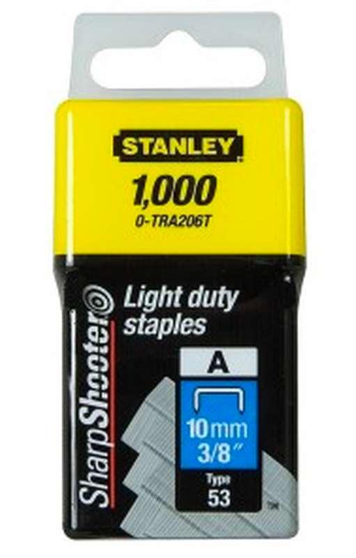 Agrafes type A, Stanley (10 mm x 1000 pcs)