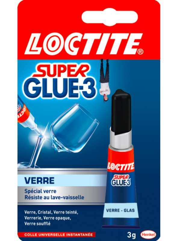 Colle liquide Superglue spécial verre, Loctite (3 g)