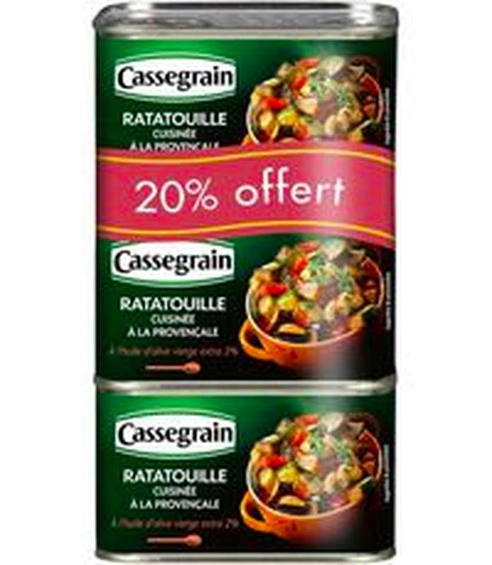 Ratatouille à la provençale, Cassegrain (3 x 380 g + 20% OFFERT)