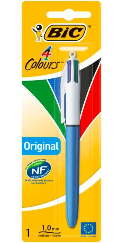 Stylo bille pointe moyenne 4 couleurs, BIC