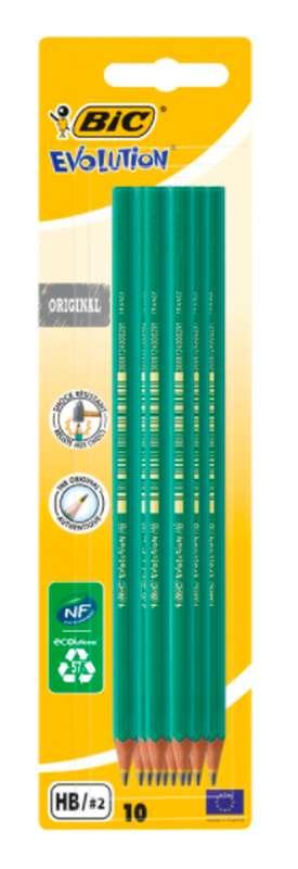 Crayon de papier graphite évolution Original, BIC (650 HB, x 10)