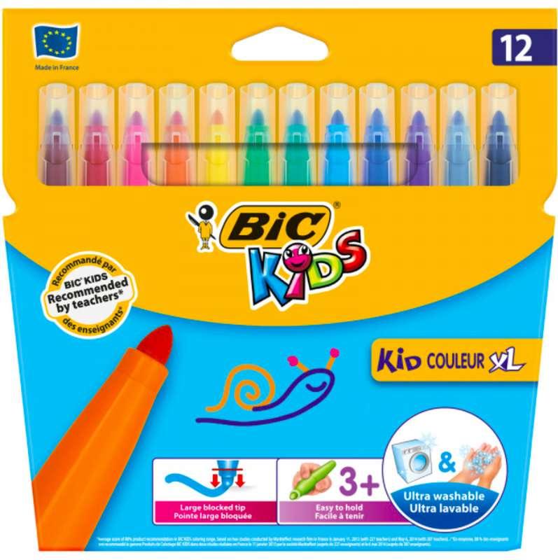 Feutres Kid Couleur XL, BIC (x 12)